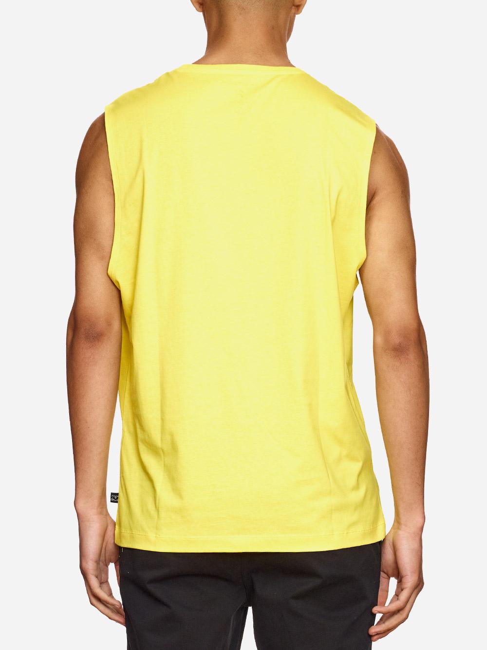 Printed Yellow Tank Top